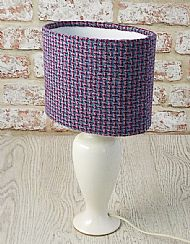 Small oval lampshade pink and blue