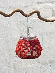red tealight holder small