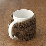 Manx Loaghtan wool mug cosy with button