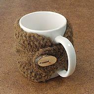 Manx Loaghtan mug cosy with button