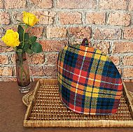 Harris tweed tea cosy bright tartan