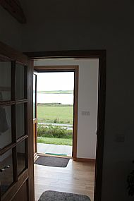 Looking out through the front door