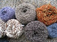 some of the yarns used for the workshop's unique range of knitwear