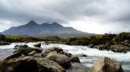 Cuillin from the river