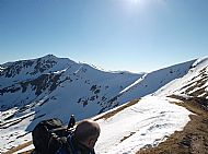 Looking back to A'Chralaig from the north ridge
