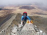 High on the NW ridge of Bruach na Frith, Cuillin.
