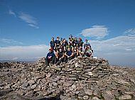 Advocate Events' BNP Paribas 9 Peaks Challenge Team at Ben Macdui summit