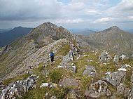 Di on the Five Sisters ridge