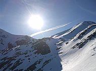 Alpine sun over the South Kintail Ridge.