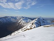 Looking west along the South Kintail ridge from Sgurr an Doire Leathain, Glen Shiel