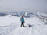 The summit of Druim Shionnach, Glen Shiel.