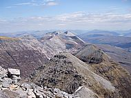 Beinn Eighe and the eastern part of the Liathach ridge, Torridon