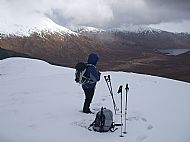 Loch Cluanie from the South Kintail ridge.