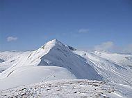 The Am Bathach ridge under deep snow