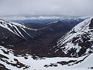 Carn a' Mhaim, a 1037m Munro, dwarfed by the Cairngorm giants around it.