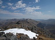 Looking east from Sgurr na Ciste Duibhe, Five Sisters ridge.