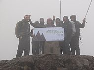 Team from Blake Morgan LLP on the summit of Ben Nevis.