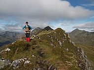 Ruth from Australia on the Five Sisters ridge
