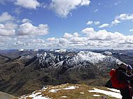 Looking back along the ridge from Sgurr Fhuaran
