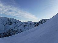 Spidean Mialach peeping over the South ridge