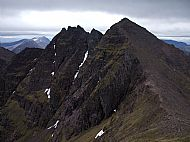 Looking back at Sgurr Fiona and the Corrag Bhuidhe Pinnacles, An Teallach.