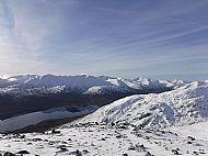 Loch Cluanie & the South Glen Shiel Ridge from Carn Ghluasaid