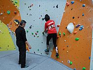 A total change of scene! Coaching climbing at Redpoint Climbing Centre, Worcester.