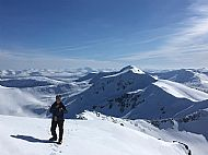 Mike on Mullach Fraoch-choire. A classic day!