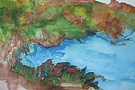 landscape painting with ink