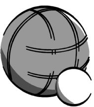 boule and coche (jack) petanque clipart