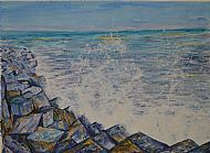 Seascape, Acrylic, G. Feeley