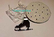 Silver Crystal Bun Net+ Ice Skate
