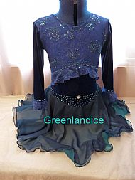 Spanish/Gypsy ice dance dress