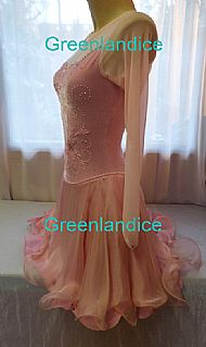 Kimmie design Ice Dance dress in Pink