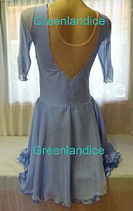 Rebecca design in Crystal Blue Back View