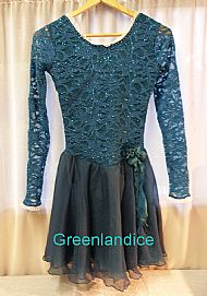 Sarah design in Teal/Jade Ice Dance Dress