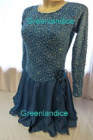 Sarah design in Teal Ice Dance Dress