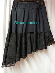 Black lace ice dance skirt