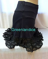 Black Lace Dance Skirt