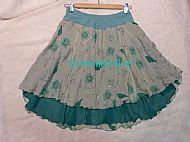 Green Flower Ice Dance Skirt