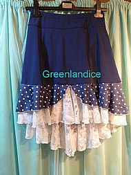Polka Dot Ice Dance Skirt