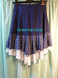 Polka Dot Ice Dance Skirt Back View