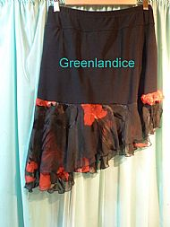 Red & Black Ice Dance Skirt