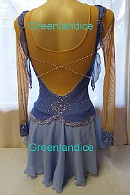 Annamarie design in blue Back View