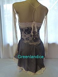Annie design in Hematite/Blush Back View