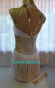 Eleanor Showtime dress White/Gold Back View