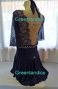 Grace design in Midnight Blue Back View