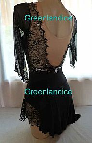Grace Tia design Black Spider dress Back View
