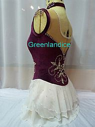 Kimmie Design in Burgundy Back View