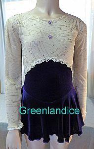 Lettie design Purple/Cream